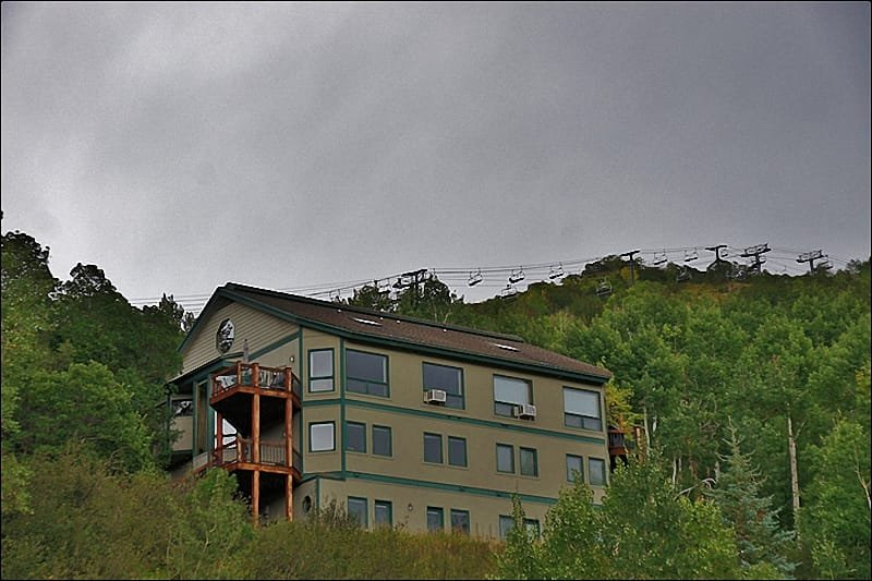 Exterior of the home with the Christie Lifts in the background & View from the home - Easy 3 Minute Walk to Ski Slopes - Great Gondola & Yampa Valley Views! (7504) - Steamboat Springs - rentals