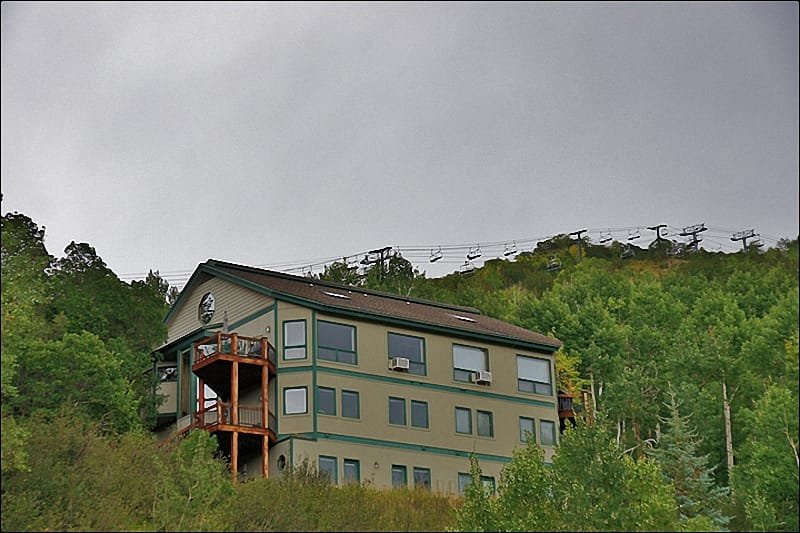 Exterior of the home with the Christie Lifts in the background & View from the home - Easy 3 Minute Walk to Ski Slopes - Great Gondola & Yampa Valley Views! (7503) - Steamboat Springs - rentals