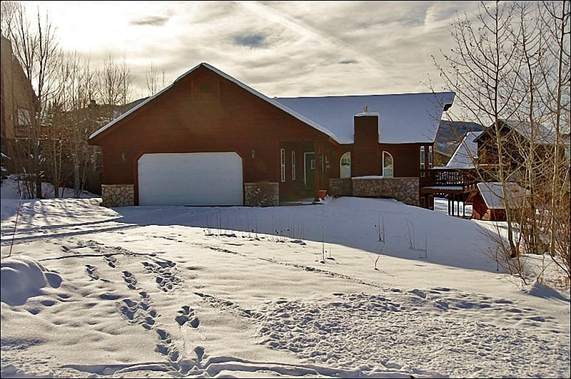 Exterior View of the Home in the Winter. - Pet Friendly, Fenced Yard - Comfortable & Spacious (8174) - Steamboat Springs - rentals