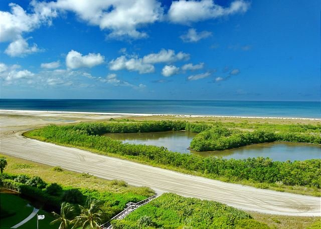 Bright beachfront condo w/ heated pool and balcony facing Tigertail Beach - Image 1 - Marco Island - rentals