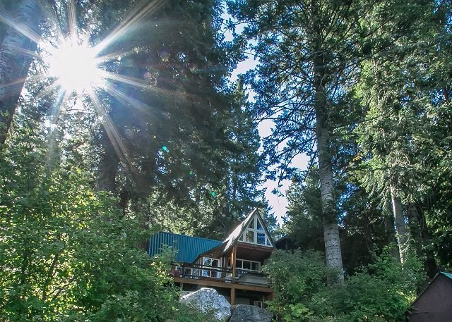 View from your private dock - Adorable couple's retreat on Fish Lake, dock and hot tub - Plain - rentals