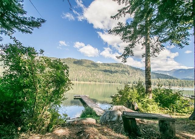 Natural yard area  - Adorable couple's retreat on Fish Lake, FREE WI-FI, private dock and hot tub - Plain - rentals