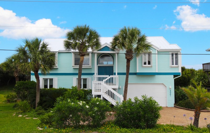 Front elevation of WaterColors - Ocean directly behind! - Luxury Hm- Game Rm- Oceanfront-Elevator-Fenced Yd - Ponte Vedra Beach - rentals