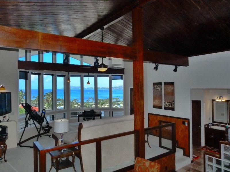 Master Bedroom has a Calif. King TempurPedic bed PLUS a Queen Bed in anteroom ! - KokoKaiThaiPalace 3-story OceanView w/Cottage,Pool - Honolulu - rentals