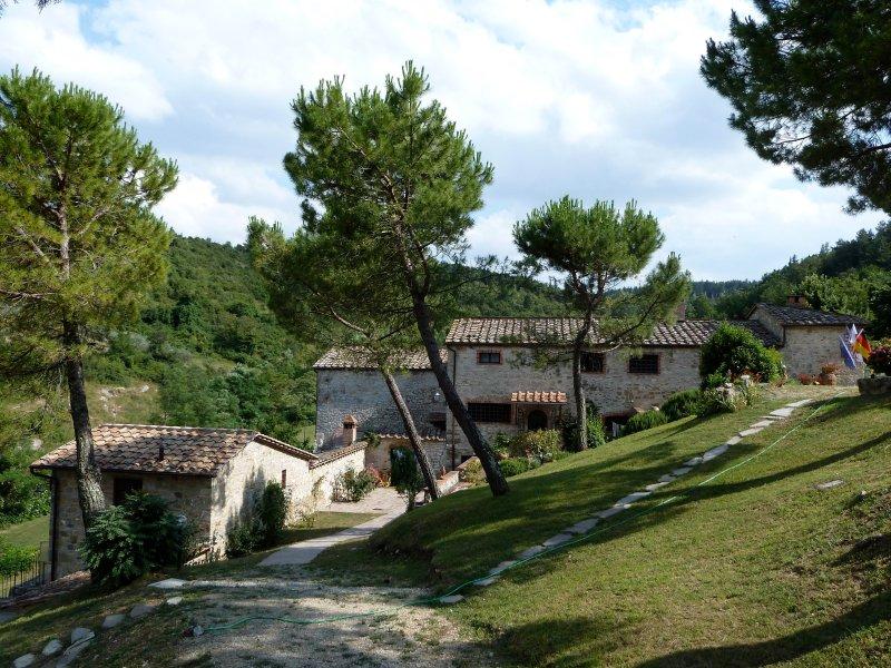 """""""Il Giardino"""" seen from north  - 3BR/3BA apartment on Tuscan Estate in the Chianti - Castellina In Chianti - rentals"""