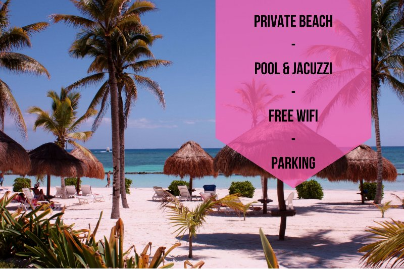 PRIVATE BEACH // POOL + JACUZZI // FREE WIFI // PARKING // A/C // HOUSEKEEPING  - Riviera Maya Haciendas - Condo Casa Arena - Puerto Aventuras - rentals