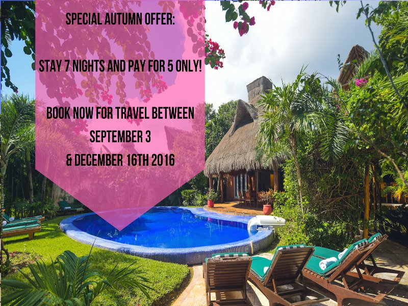 SPECIAL AUTUMN OFFER STAY 7 NIGHTS & PAY FOR 5 ONLY!   - Riviera Maya Haciendas - Laguna Encantada (18pers) - Akumal - rentals