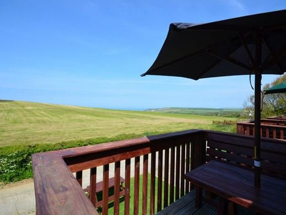Views out to see from the enclosed balcony with seating - FCH1453 - Widemouth Bay - rentals
