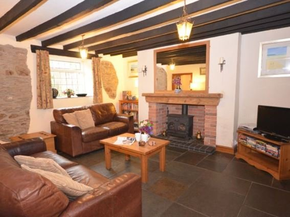 Lounge with gas effect woodburner - FCH2039 - Combe Martin - rentals