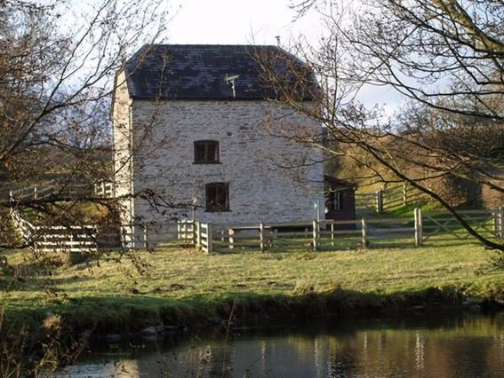 View across the river towards the property - HALLS - Brilley - rentals