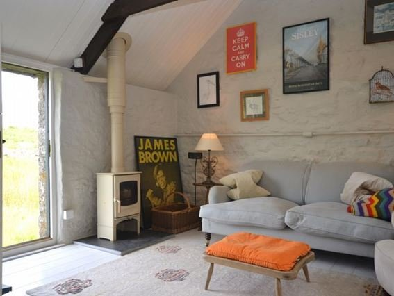 Open-plan living area with woodburner and access to the moor - WEBAR - Saint Breward - rentals