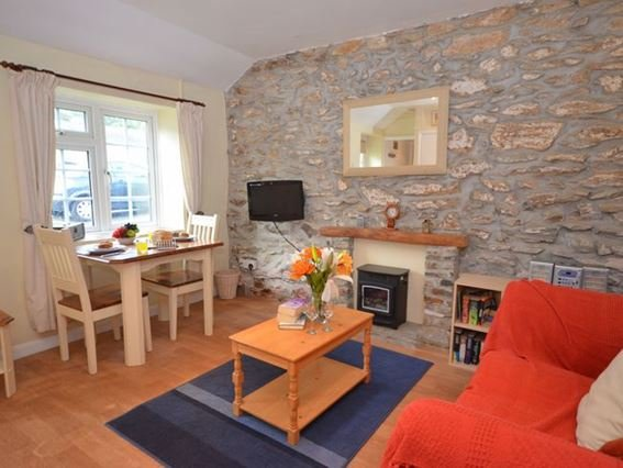 Lounge/kitchen/diner with exposed stone work - CROJI - Cornwall - rentals