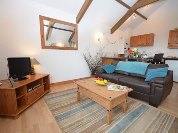 Lounge area with exposed beams and countryside views - FCH4643 - Portreath - rentals
