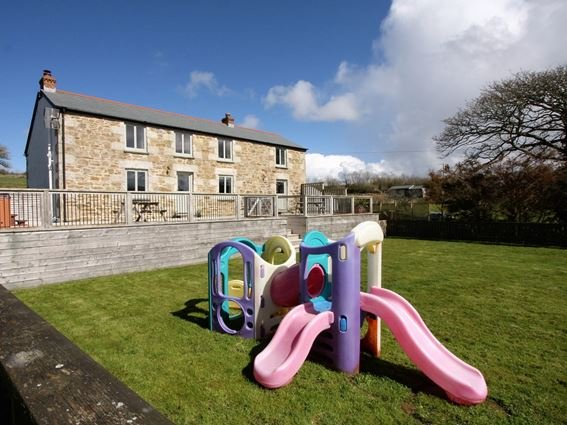 Views towards the property with play area - LUKES - Cornwall - rentals