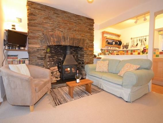 Lounge with woodburner - MHONE - South Milton - rentals