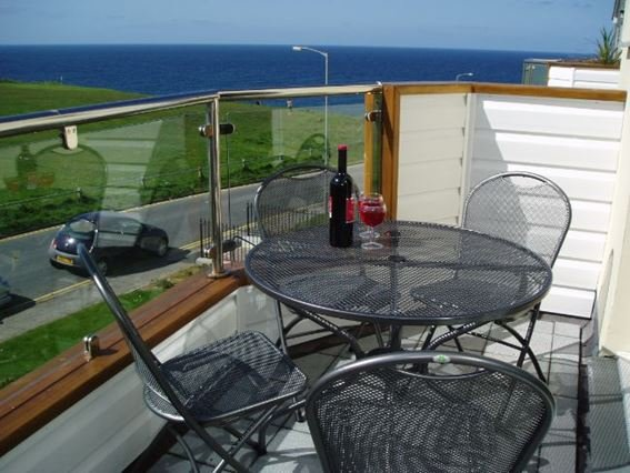 View from the balcony accessed from the living area - SPINS - Cornwall - rentals