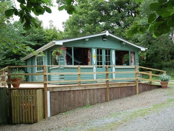 View of the lodge with sun terrace and seating - FORRO - Kilkhampton - rentals