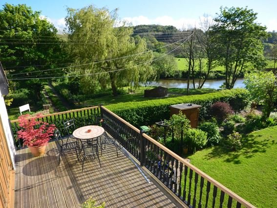 View over the garden from the balcony towards the river - CRICK - Weare Giffard - rentals