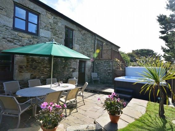 View towards the property with private hot tub and patio - FCH776 - Portreath - rentals