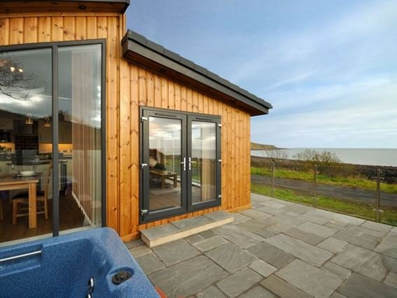 Views to the property and hot tub - RASC4 - Auchencairn - rentals