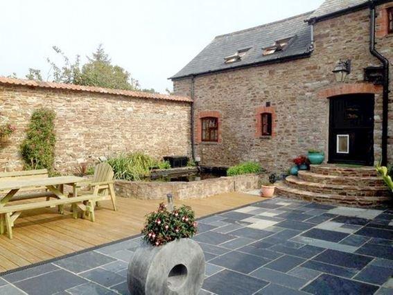 Enclosed courtyard garden with decking, pond, garden furniture and BBQ - RIXLA - Westward Ho - rentals