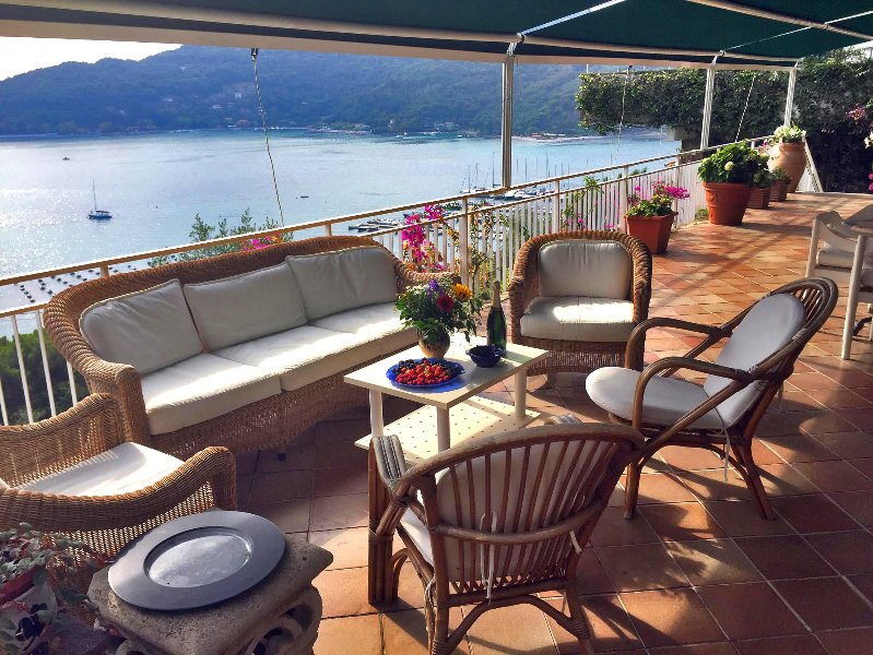 Villa Smeralda - Terrace with amazing view over the channel - Villa Smeralda Portovenere Cinque Terre - Portovenere - rentals