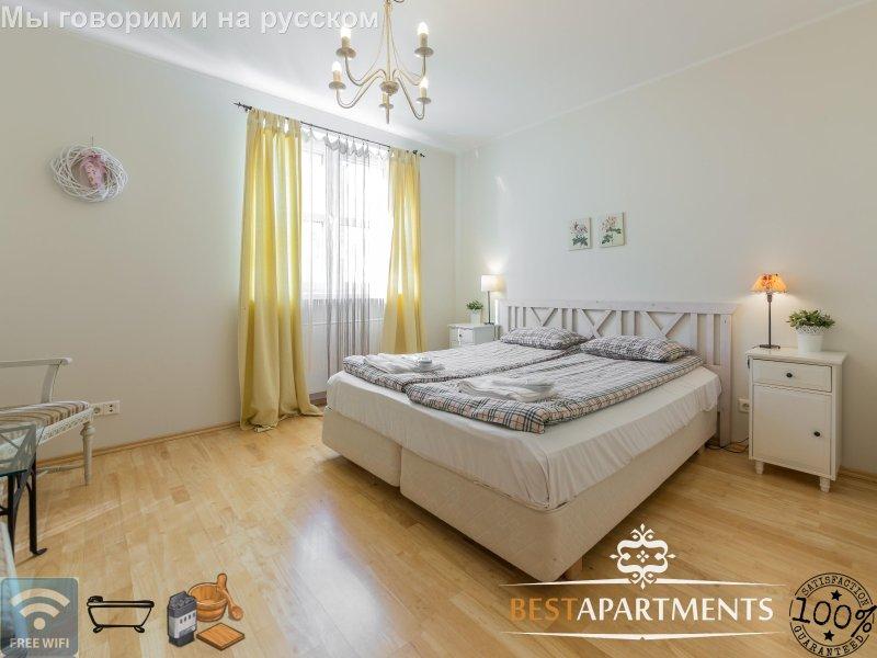 2 BDRM Tallinn apartment for 6 with bathtub & sauna - Image 1 - Tallinn - rentals