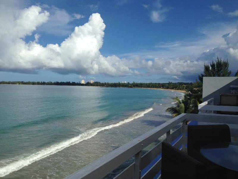 View from 1000 square foot rooftop terrace. - A Condo in Paradise - Luquillo - rentals