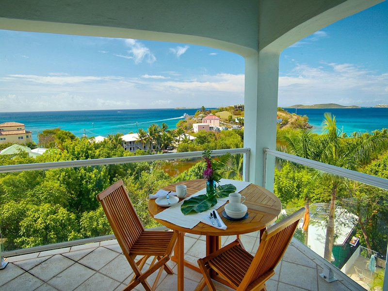 View From Master Suite Balcony - Blue Coral Condo - Cruz Bay - rentals