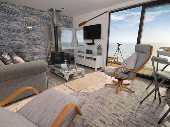 Lounge with woodburner - IDLEO - Cawsand - rentals