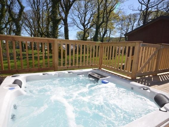 Sunken hot tub with iPod dock and views across the pond - 29279 - Devon - rentals