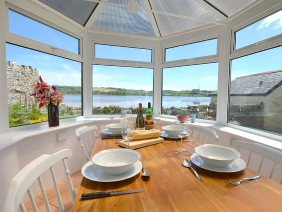 Conservatory with river views across the garden - RTIDE - Bere Ferrers - rentals