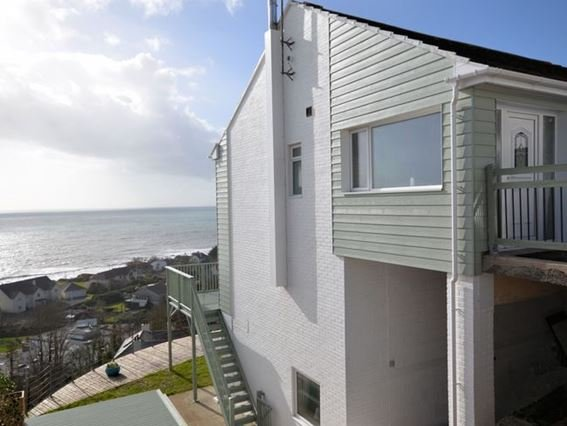 View of the property with panoramic sea views - DLOOK - Downderry - rentals