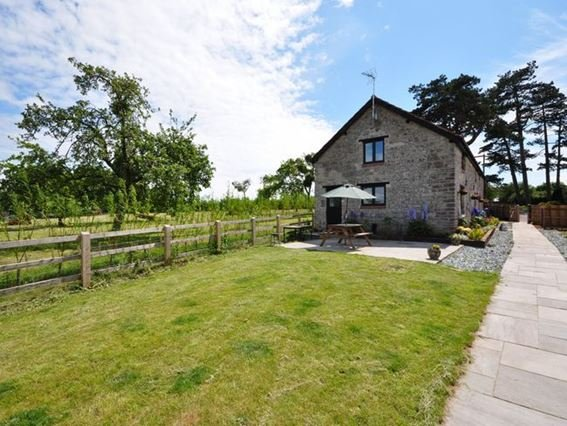 View towards the cottage and garden with shared access - KNRIV - Somerset - rentals