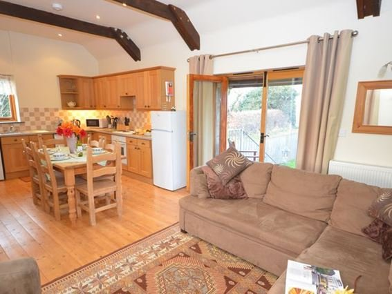Lounge/kitchen/diner with french doors leading down into the garden - HIBAR - Maxworthy - rentals