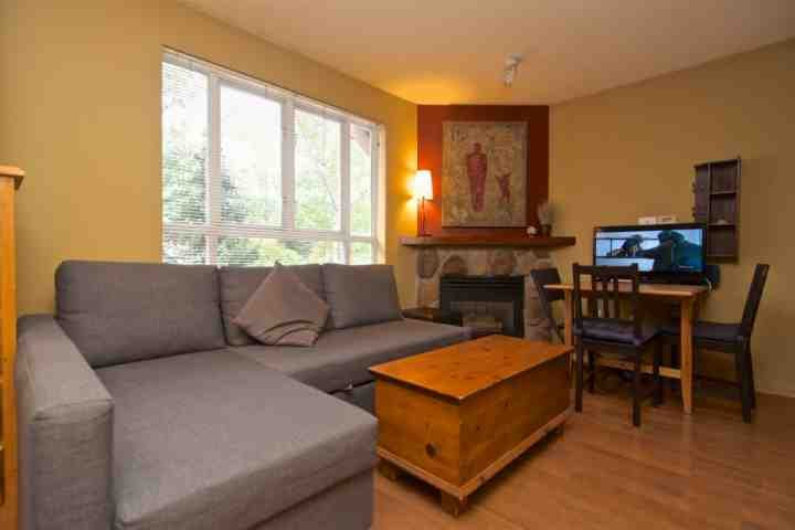 Living room ...sofa converts to bed , or the Queen Murphy bed - Great Value and Super Location in this Eagle Lodge Studio that sleeps 4 Unit # 224 - Whistler - rentals