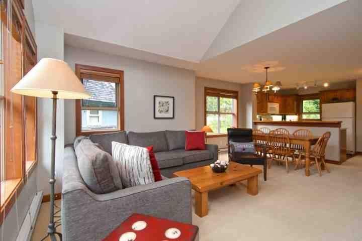 Open concept plan - Treeline 3 Bedroom Townhouse unit 13 - Whistler - rentals