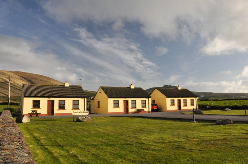 front of cottages over looking cliffs and sea - Suantra cottages at Dingle Peninsulas' scenic tip - Dingle - rentals
