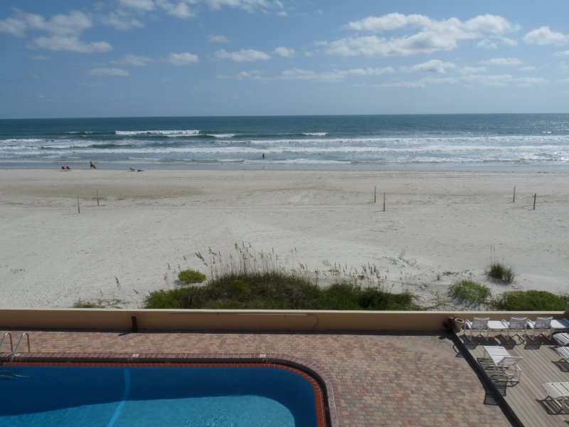 View from 3rd Floor Large Private Oceanfront Balcony - REAL Direct Oceanfront 3rd Floor Unit w/ Spectacular Balcony View - Dog Friendly - Daytona Beach - rentals