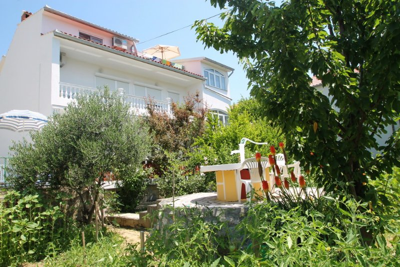front of property with garden,terrace,parking,grill - Apartment TINA  for max. 8 pers.on First flor - Rab - rentals