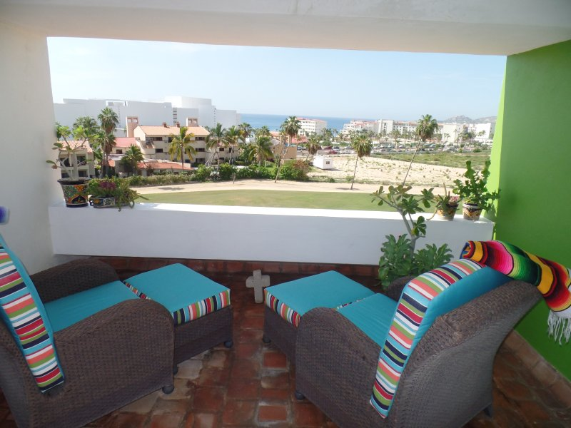 Private roof top terrace with views of the Sea of Cortez and golf course.  - Penthouse View Condo- Private ViewRoof Top Terrace - San Jose Del Cabo - rentals