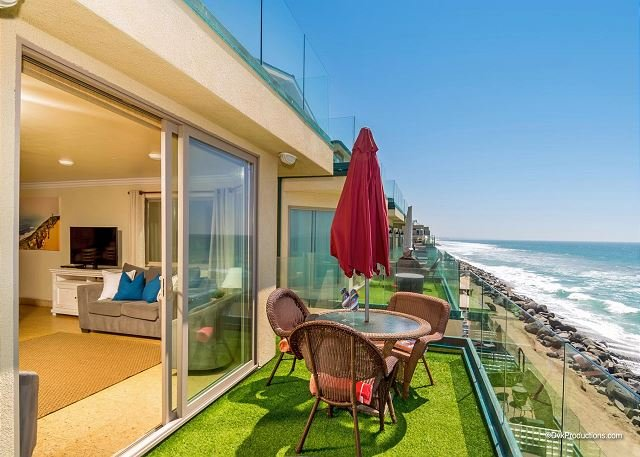 New oceanfront 11br/11ba home on the sand w/ rooftop deck, spa, A/C Equipped - Image 1 - Oceanside - rentals