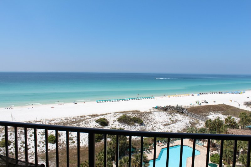 Wonderful view from the balcony - Remodeled Wonderful Beachfront Views! Take advantage of beautiful Fall weather! - Destin - rentals