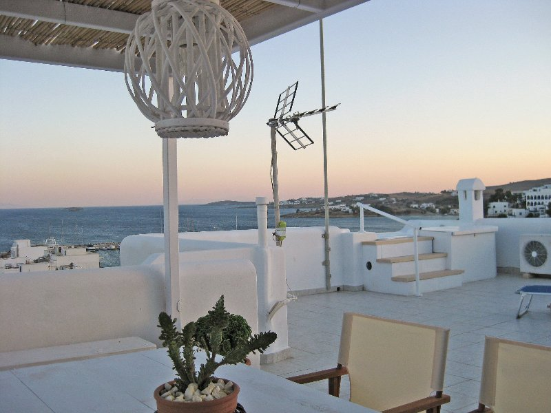 Terrace - the magnificent panoramic view from the terrace !! (1) - Seaside 2-Storey Villa with Large Terrace/Jacuzzi - Piso Livadi - rentals