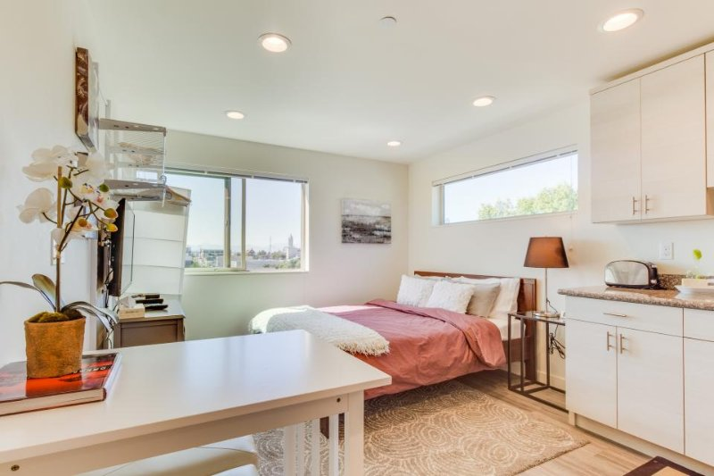 Third-floor International District studio, small dog-friendly! - Image 1 - Seattle - rentals
