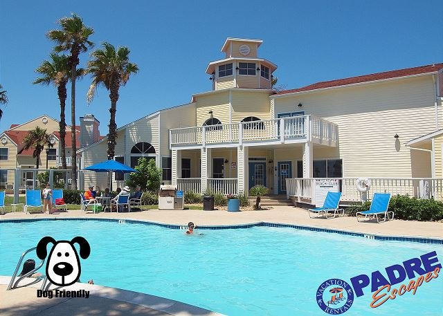 Heated pool at Beach Club condos  - Villa by the beach is a recently remodeled Condo close to the Beach! - Corpus Christi - rentals