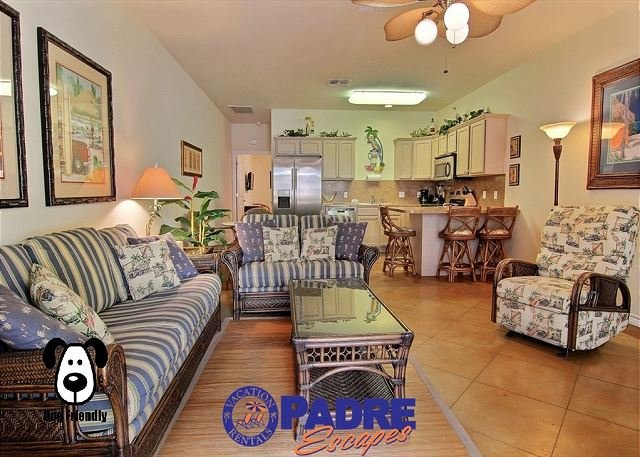 Open and spacious kitchen, dining and living area - Life is Good when you're at this North Padre Island Getaway! - Corpus Christi - rentals