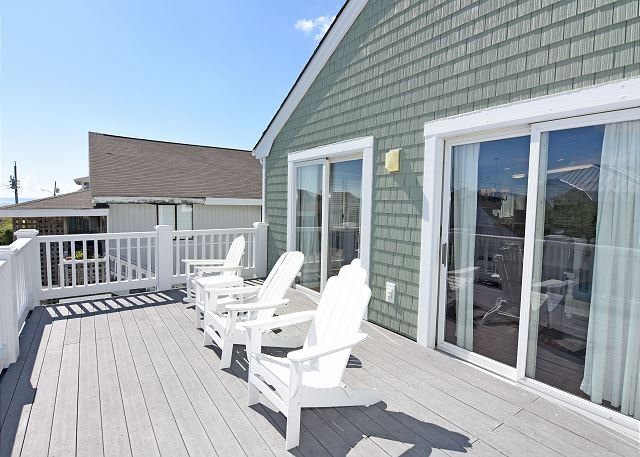 Crane Roost Deck - Crane Roost  -  Slow down and relax at this contemporary North End townhouse - Wrightsville Beach - rentals