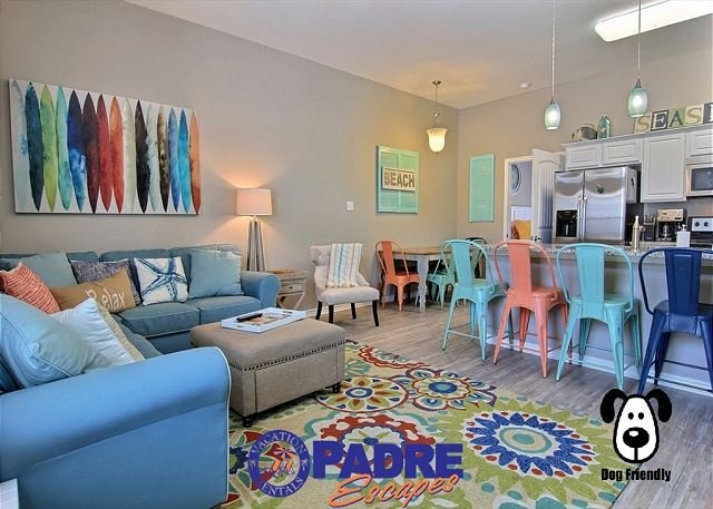 Spacious & open kitchen, living and dining areas on the first floor - Brand New 4/3 Townhouse just steps off the Beach. - Corpus Christi - rentals