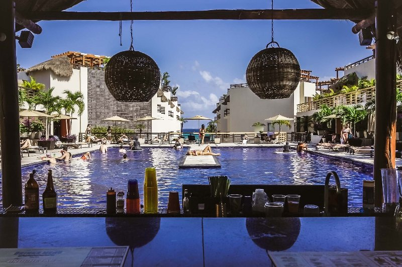The Aldea Thai pool with swim up bar - Aldea Thai with Plunge Pool - Estrella - Playa del Carmen - rentals